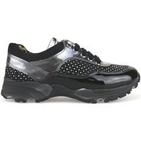 Schuhe Mädchen Sneaker Low Nada sneakers schwarz wildleder grau lack strass AH189 mehrfarben