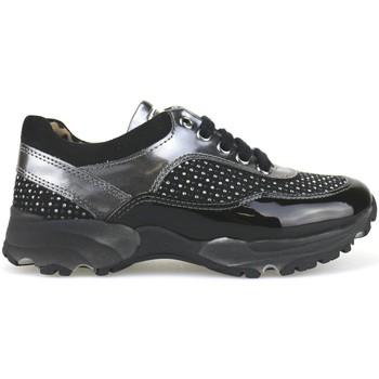 Nada kinderschuhe sneakers schwarz wildleder grau lack strass AH189