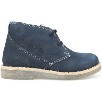 Schuhe Mädchen Low Boots Didiblu DIDIblau stiefeletten blau wildleder AH177 blau