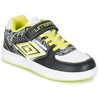 Schuhe Jungen Sneaker Low Umbro COGAN Schwarz / Weiss / Gelb