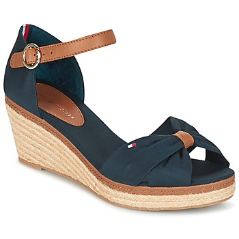 Schuhe Damen Sandalen / Sandaletten Tommy Hilfiger ELBA 40D Marine / Braun