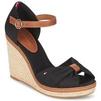 Schuhe Damen Sandalen / Sandaletten Tommy Hilfiger ELENA 56D Schwarz / Braun