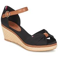 Schuhe Damen Sandalen / Sandaletten Tommy Hilfiger ELBA 40D Schwarz / Braun