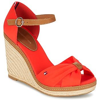 Schuhe Damen Sandalen / Sandaletten Tommy Hilfiger ELENA 56D Korallenrot / Braun
