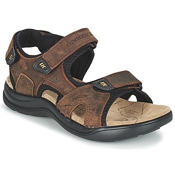 Schuhe Herren Sportliche Sandalen Lumberjack EARTH Braun