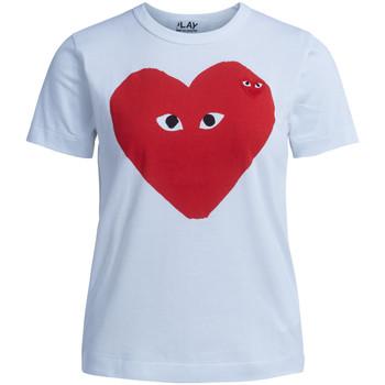 Kleidung Damen T-Shirts Comme Des Garcons Comme Des Garçons T-Shirt Play mit rotem Herz Weiss
