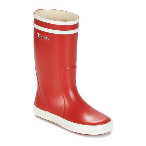 Schuhe Kinder Gummistiefel Aigle LOLLY POP Rot / Weiss