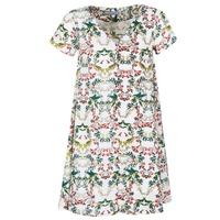 Kleidung Damen Kurze Kleider Compania Fantastica EPINETA Weiss / Grün / Rose