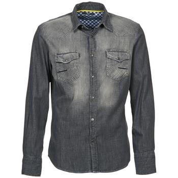 Kleidung Herren Langärmelige Hemden Meltin'pot CAREY Grau