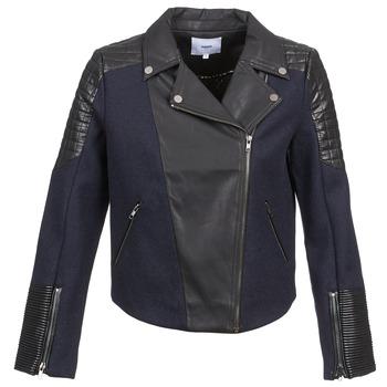 Kleidung Damen Jacken / Blazers Suncoo DARCY Marine / Schwarz