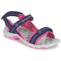 Schuhe Mädchen Sportliche Sandalen Kangaroos MUSER Marine / Rose