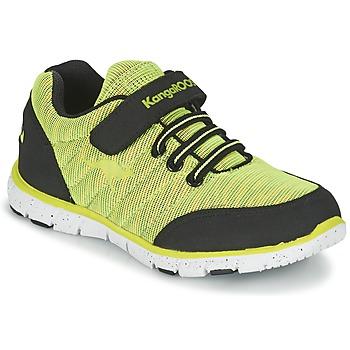 Schuhe Jungen Sneaker Low Kangaroos NURI ZEBRA Grün / Schwarz