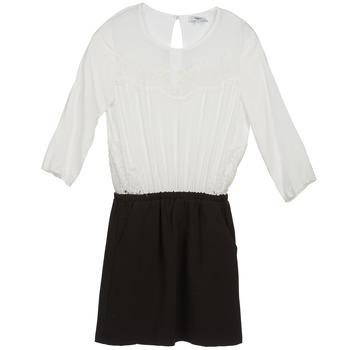 Kleidung Damen Kurze Kleider Suncoo CELESTINE Schwarz / Weiss