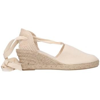 Schuhe Herren Leinen-Pantoletten mit gefloch Fernandez Alparg y valen Mujer - beige