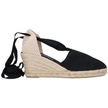 Schuhe Herren Leinen-Pantoletten mit gefloch Fernandez Alparg y valen Mujer - noir