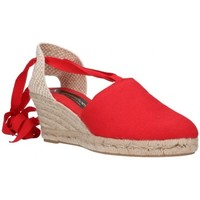 Schuhe Herren Leinen-Pantoletten mit gefloch Fernandez VALENC. CINTAS - Rojo rouge