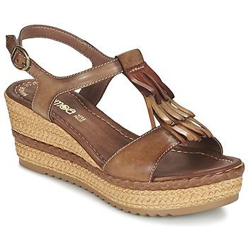 Schuhe Damen Sandalen / Sandaletten Samoa DREDU Braun