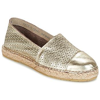 Schuhe Damen Leinen-Pantoletten mit gefloch Nome Footwear MAROU Gold