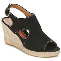 Schuhe Damen Leinen-Pantoletten mit gefloch Nome Footwear DESTIF Schwarz
