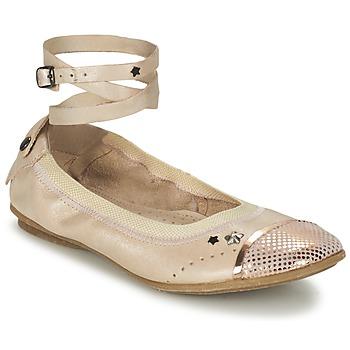 Schuhe Mädchen Ballerinas Ikks EMILY Beige / Rose