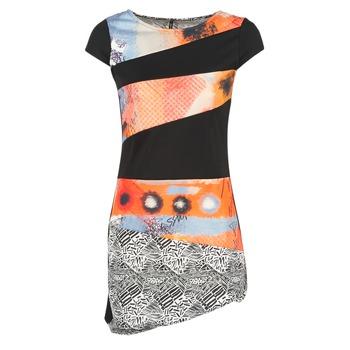 Kleidung Damen Kurze Kleider Smash SERPENS Schwarz / Orange / Grau