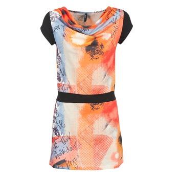 Kleidung Damen Kurze Kleider Smash CITRON Orange / Schwarz