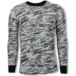 Kleidung Herren Sweatshirts Tony Backer Armee Look Long Schwarz
