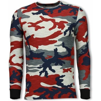 Kleidung Herren Sweatshirts Tony Backer Army Zipped Back Long Camo Blauw, Rood, Beige