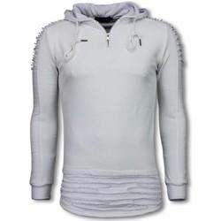 Kleidung Herren Sweatshirts Justing Rippe Shoulder Long Hoodie Grau