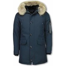 Kleidung Herren Parkas Enos Jacken Mit Fellkragen Winterjacken  Große Blau