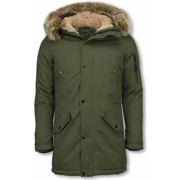 Kleidung Herren Parkas Enos Jacken Mit Kunstfellkragen Winterjacken Grün