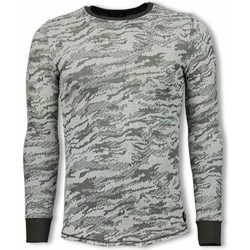 Kleidung Herren Sweatshirts Tony Backer Armee Look Long Grün
