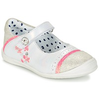 Schuhe Mädchen Ballerinas Catimini PIPISTRELLE Silbern / Korallenrot