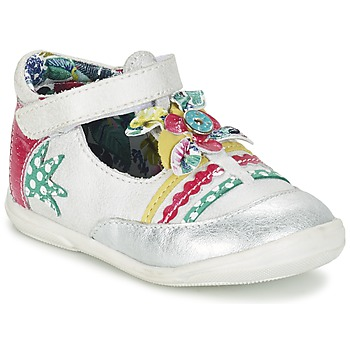Schuhe Mädchen Ballerinas Catimini PANTHERE Weiss / Silbern