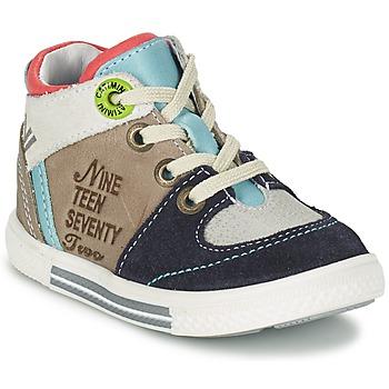 Schuhe Jungen Sneaker High Catimini PIMENT Grau / Türkis