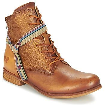 Schuhe Damen Boots Felmini MOSTAZA Camel