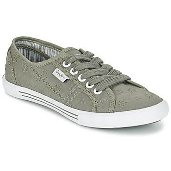 Schuhe Damen Sneaker Low Pepe jeans ABERLADY ANGLAISE Grau