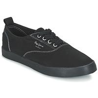 Schuhe Damen Sneaker Low Pepe jeans JULIA MONOCROME Schwarz