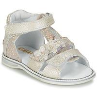 Schuhe Mädchen Sandalen / Sandaletten GBB PING Grau / Silbern