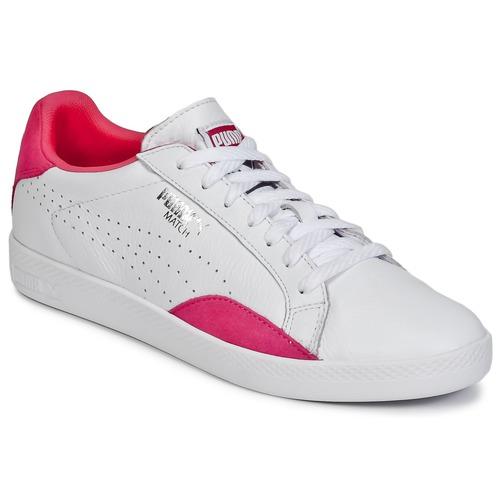 Schuhe Damen Sneaker Low Puma WNS MATCH LO BASIC.W Weiss / Violett