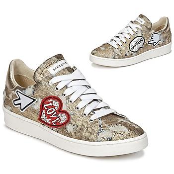 Schuhe Damen Sneaker Low Meline QOLI Goldfarben