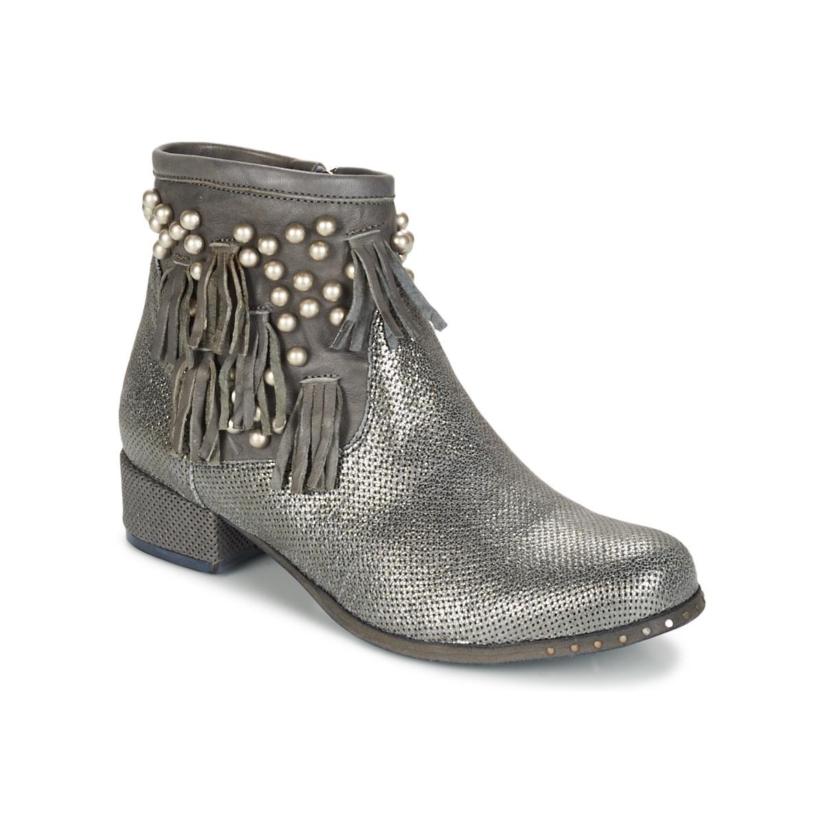 Mimmu MOONSTROP Maulwurf / Silbern - Kostenloser Versand bei Spartoode ! - Schuhe Boots Damen 77,50 €