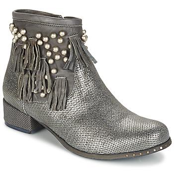Schuhe Damen Boots Mimmu MOONSTROP Maulwurf / Silbern