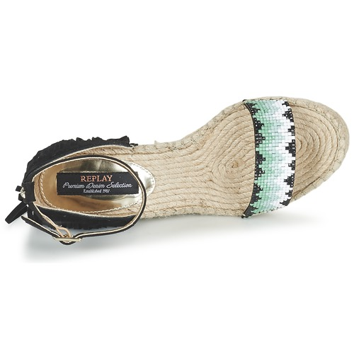 Replay CHATE Schwarz Schwarz CHATE  Schuhe Sandalen / Sandaletten Damen 60 4b02a9