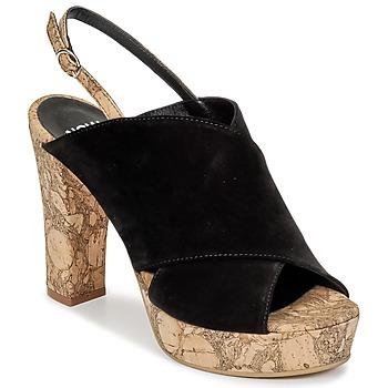 Schuhe Damen Pantoffel Now PAPIRON Schwarz