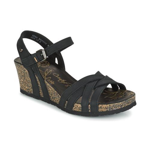 panama jack vera schwarz kostenloser versand bei schuhe sandalen sandaletten. Black Bedroom Furniture Sets. Home Design Ideas