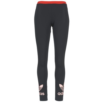 Kleidung Damen Leggings adidas Originals TREFOIL LEGGING Schwarz / Rose