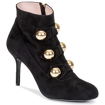 Schuhe Damen Low Boots Moschino Cheap & CHIC BOW Schwarz