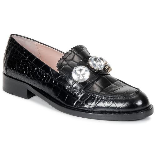 Moschino Cheap & CHIC STONES Schwarz Schuhe Slipper Damen 232,50
