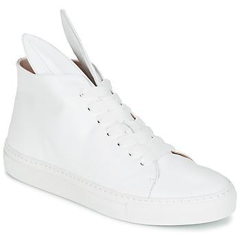Schuhe Damen Sneaker High Minna Parikka BUNNY SNEAKS Weiss